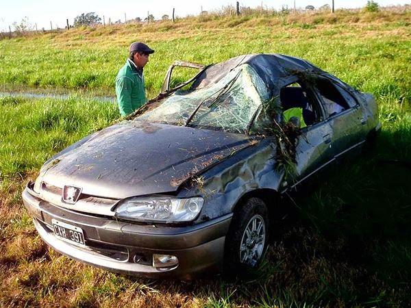 Violento vuelco con heridos leves en Ruta 5 08