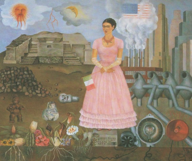 Matrimonio Tema Frida Kahlo : Autorretrato entre la frontera de méxico y los estados unidos. frida