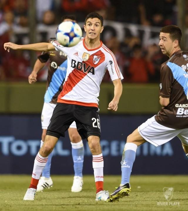 Nacho Fernández hizo un gol en el debut de River