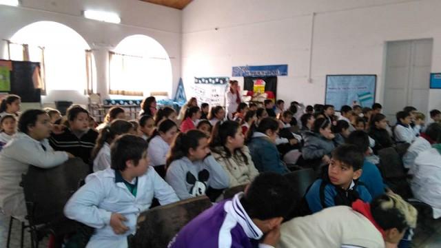 Talleres de Prevención de adicciones en las  escuelas primarias de la localidad de Quiroga