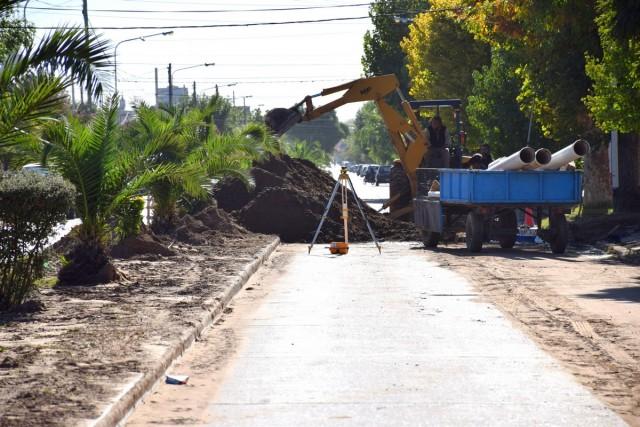 Obras cloacales para el Barrio 2 de Abril