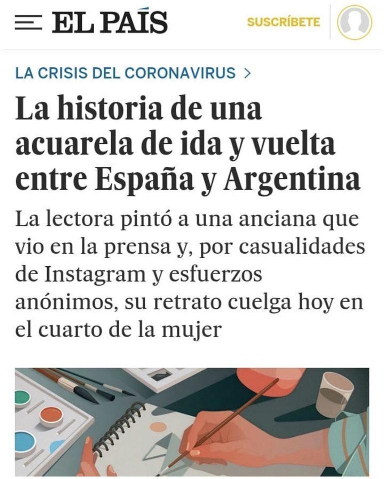 El País de España se hizo eco de una publicación de EL 9 DE JULIO