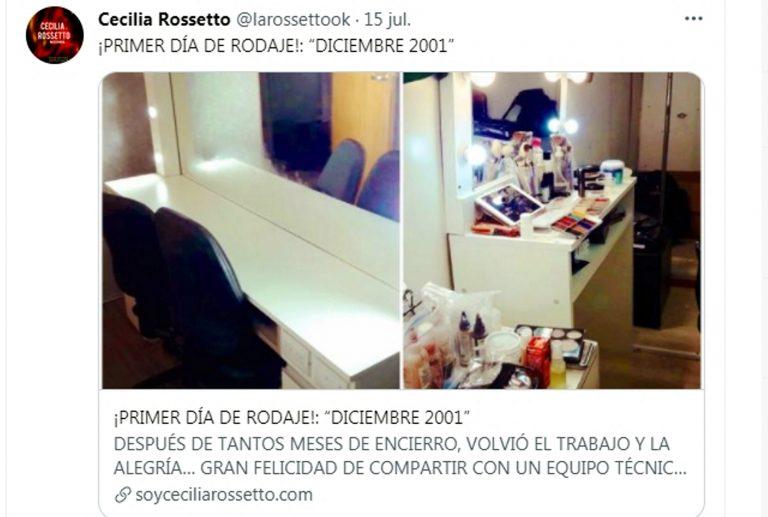 Cecilia Rossetto comenzó a rodar «Diciembre 2001»