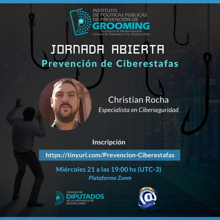 Invitación a la jornada abierta de prevención de Ciberestafas*