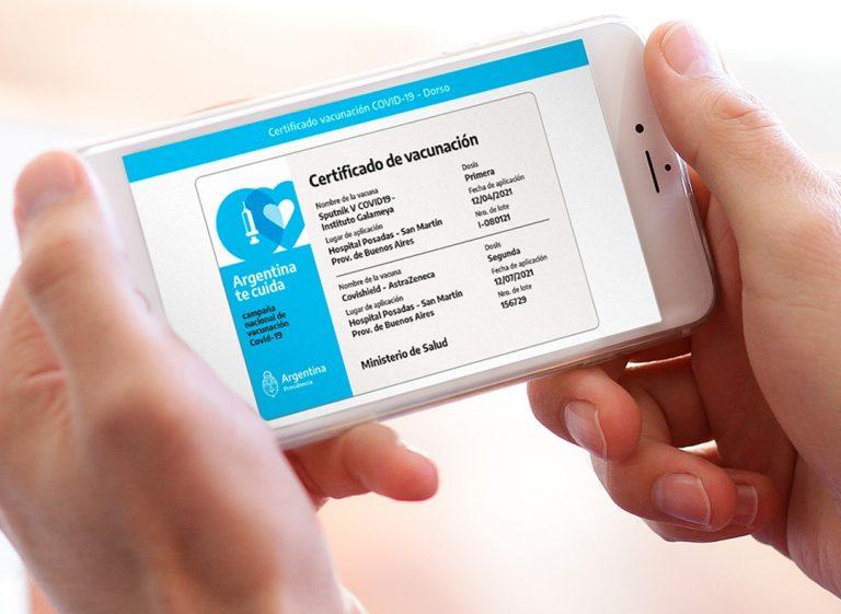 Certificación digital de la vacuna: la tienen más de 7 millones
