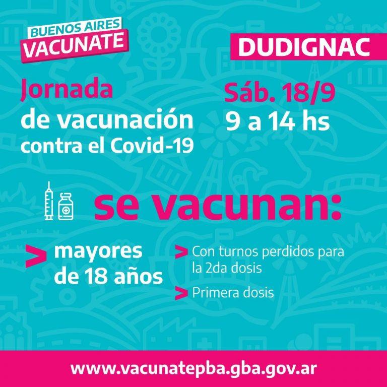 Este sábado jornada de vacunación en Dudignac